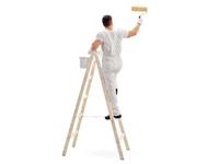 Malování stropů: Je lepší zvolit štafle nebo schůdky?
