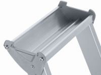 XL step S nýtovaný stojací žebřík, eloxovaný
