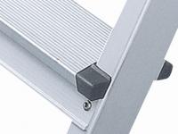 XL step B nýtovaný stojací žebřík, eloxovaný