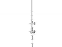 Kotva do zdi, přestavitelná 275-375