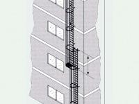 Výstupové žebříky s nepřímým výstupem