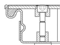 Šachtové poklopy z nerezové oceli V2A